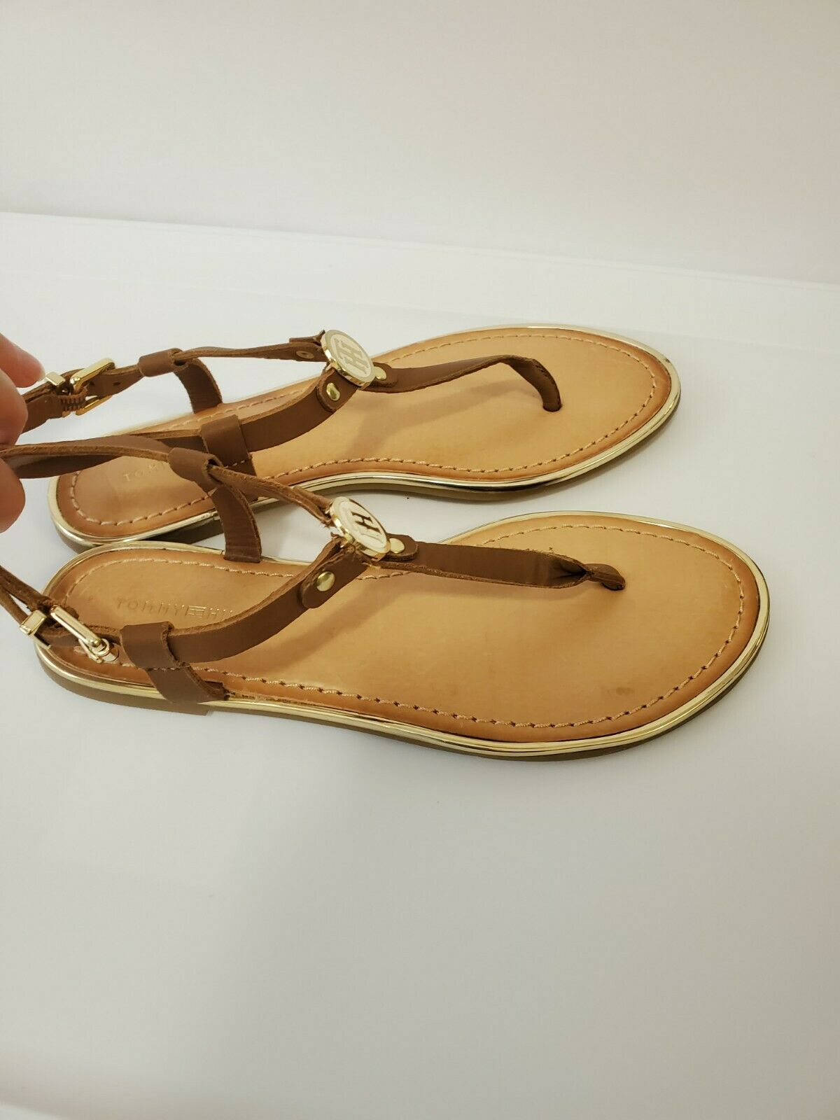 Tommy hilfiger women Brown Leather Sandals  - image 7