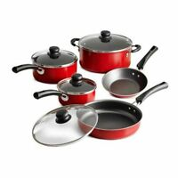 Tramontina Cookware Set 9 Piece Simple Cooking Nonstick Kitchen Dining Red Color