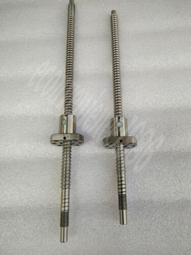 2 X RM2505--800 mm Ball screws with 2 Pcs RM2505 CNC Single nut