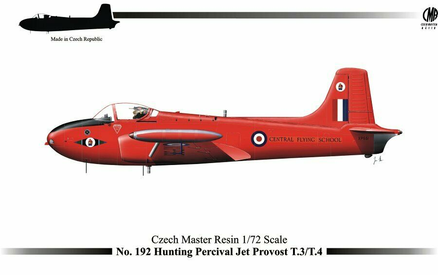 Czech Master hkonsts 1  72 jakt Percival Jet Provost T.3  T.4 FRANS35;;
