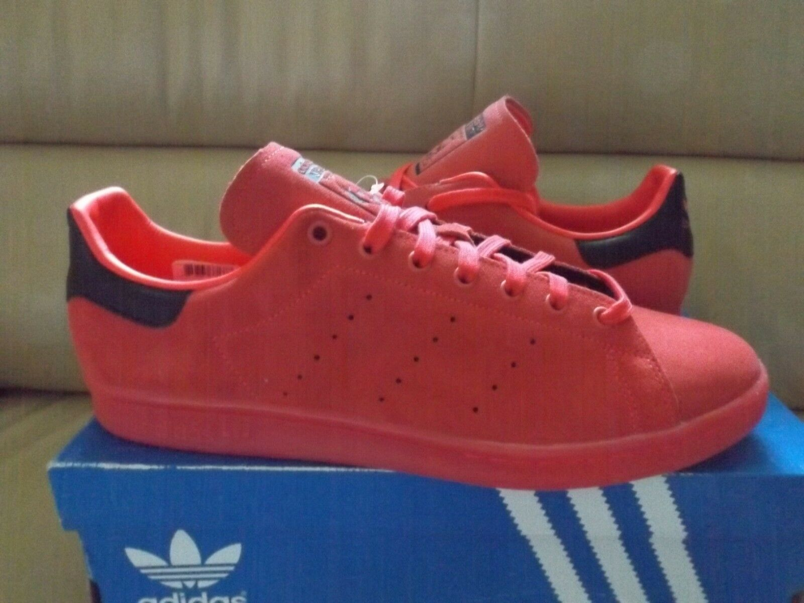 Adidas Stan Smith Men's Athletic Shoes Size 13 Shock Red Suede S80032 New w'Box