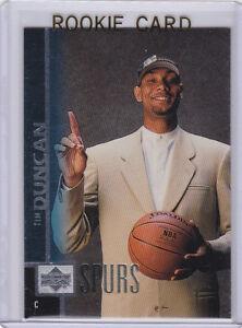 Details About Tim Duncan Rookie Card 1997 Upper Deck Rc San Antonio Spurs Basketball 1 Pick