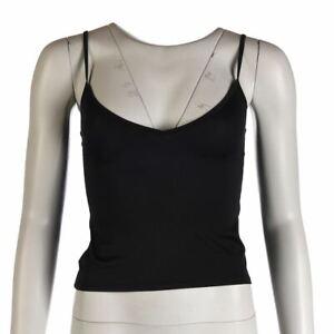 COLLETTE-DINNIGAN-Vest-Top-Black-Stretch-Size-Small-RWH-244