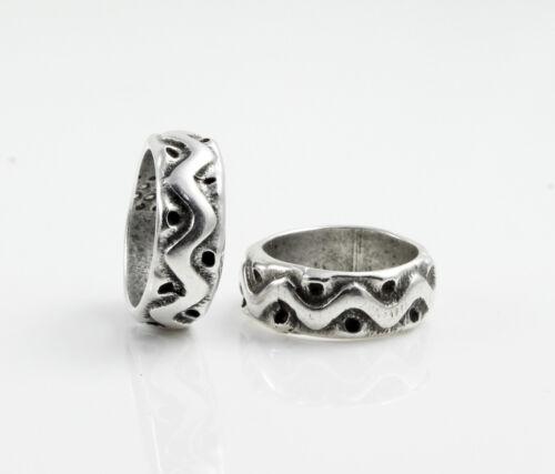 4 großloch Perles Argenté-Ø 12 mm bracelet fabrication haarperle