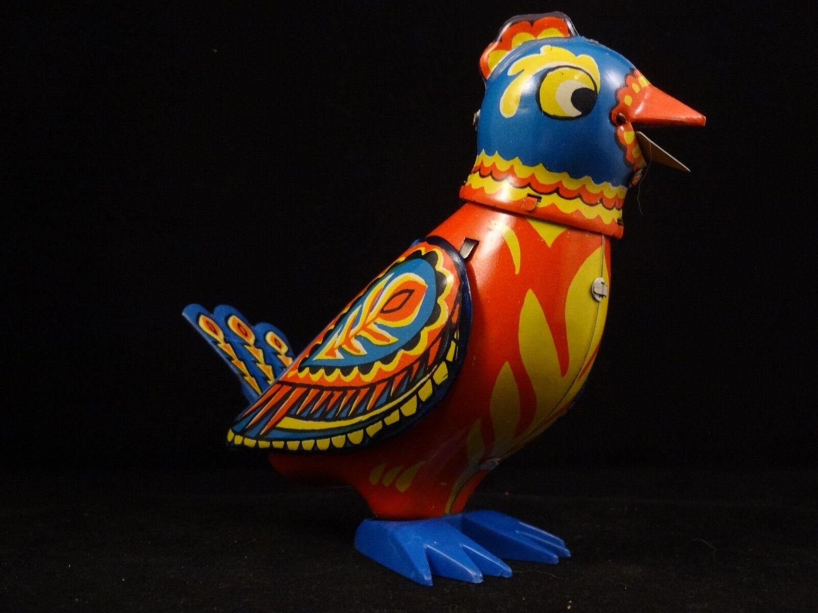 Ancien jouet oiseau tôle multicolore mécanique singing singing singing bird Russia St Petersburg ea4cf7