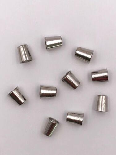 10x Kordelenden Metall//silber  konisch
