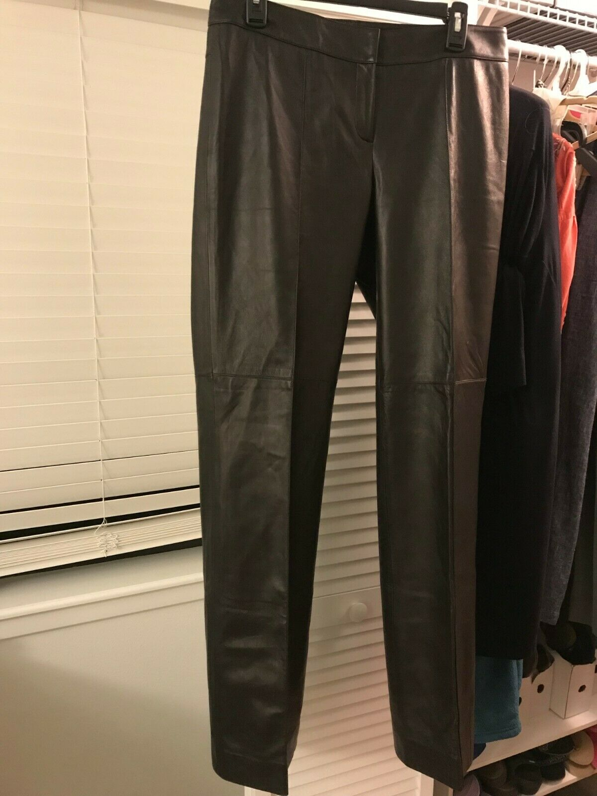 CARLISLE Leather Pants Brown damen 10 Fully lined