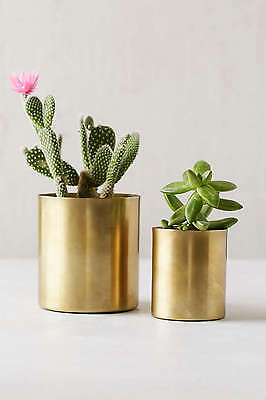 SMALL METAL GOLD CACTUS SUCCULENT POT PLANTER  INDOOR PLANT STAND