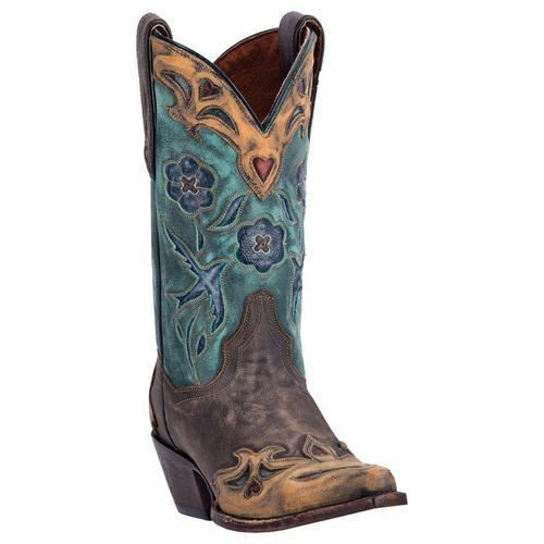 Dan Post Donna Cowboy Del West Stivali in pelle Dp3544 Cioccolato