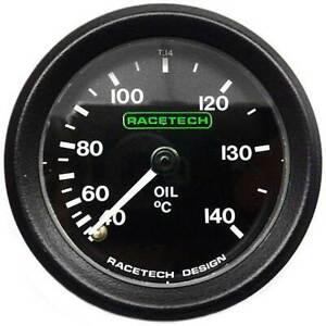 Racetech-Oil-Temperature-Gauge-Mechanical-No-Back-Light-amp-9ft-Capilary