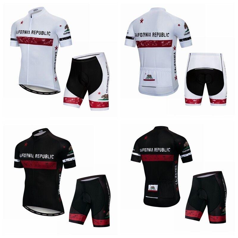Men Cycling Jersey Sport Bike capi di abgreeliamento Set Short Sleeve Bicycle Shirt Shorts Top