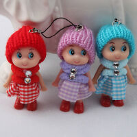 Hot Sale Girl Soft Lovely Baby Dolls Toy Mini Doll Mobile Phone Accessory