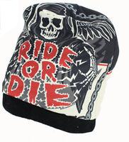 Hd Sublimation Ride Or Die Rough Cut Biker Stocking Skull Cap Beanie Rider
