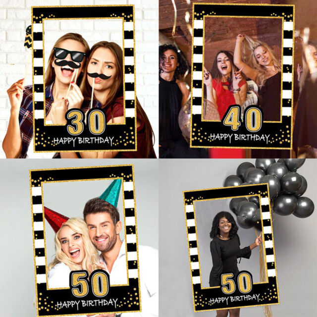 Romantic 30//40//50//60th Birthday Party Photo Booth Paper Props Anniversary Decor