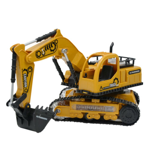 Four-channel Music Light RC Engineering Vehicles Children Toy Gift-Excavator
