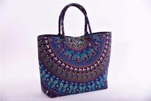 Mandala Handbag Indian Hippie Tote Bag Shoulder Cotton Women Satchel Lady Purse