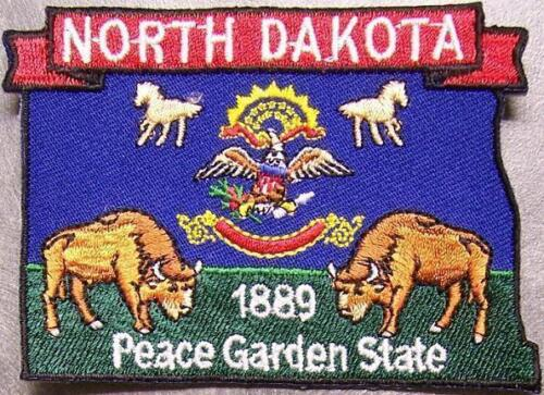 Embroidered USA State Patch North Dakota NEW montage