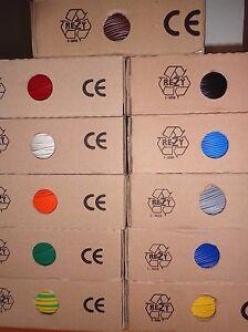 flexible Aderleitung H05V-K H07V-K Verdrahtungsleitung 0,5 bis 95 mm² div Farben
