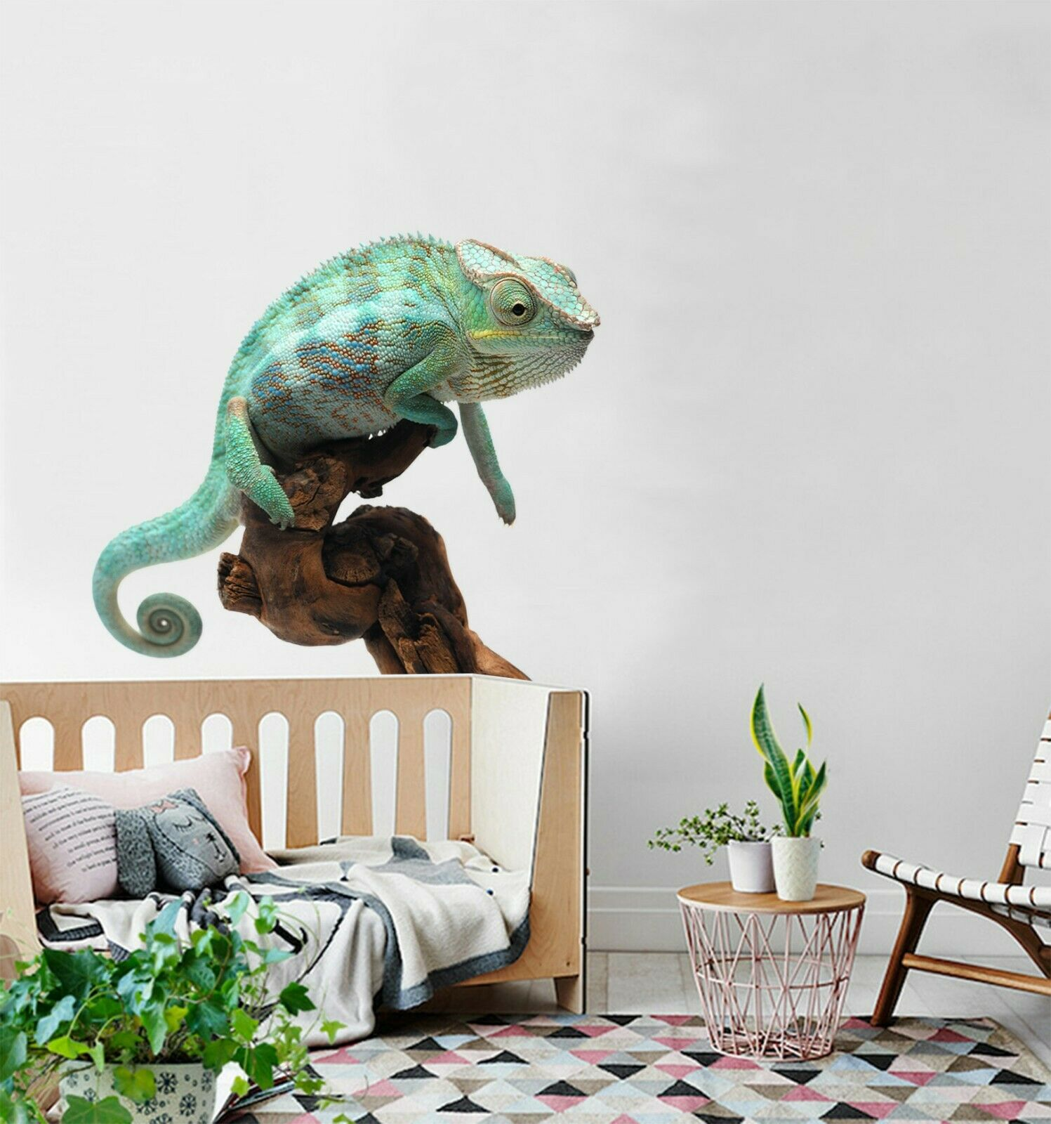 3D Chameleon O16 Animal Wallpaper Mural Poster Wall Stickers Decal Angelia