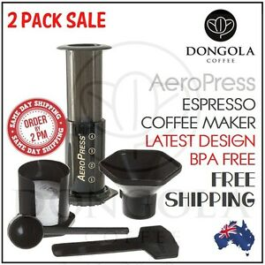 Aeropress Coffee Espresso Maker Instructions : 2PK AEROPRESS Coffee & Espresso Maker Manual Brewer Aerobie suit Porlex Grinder eBay