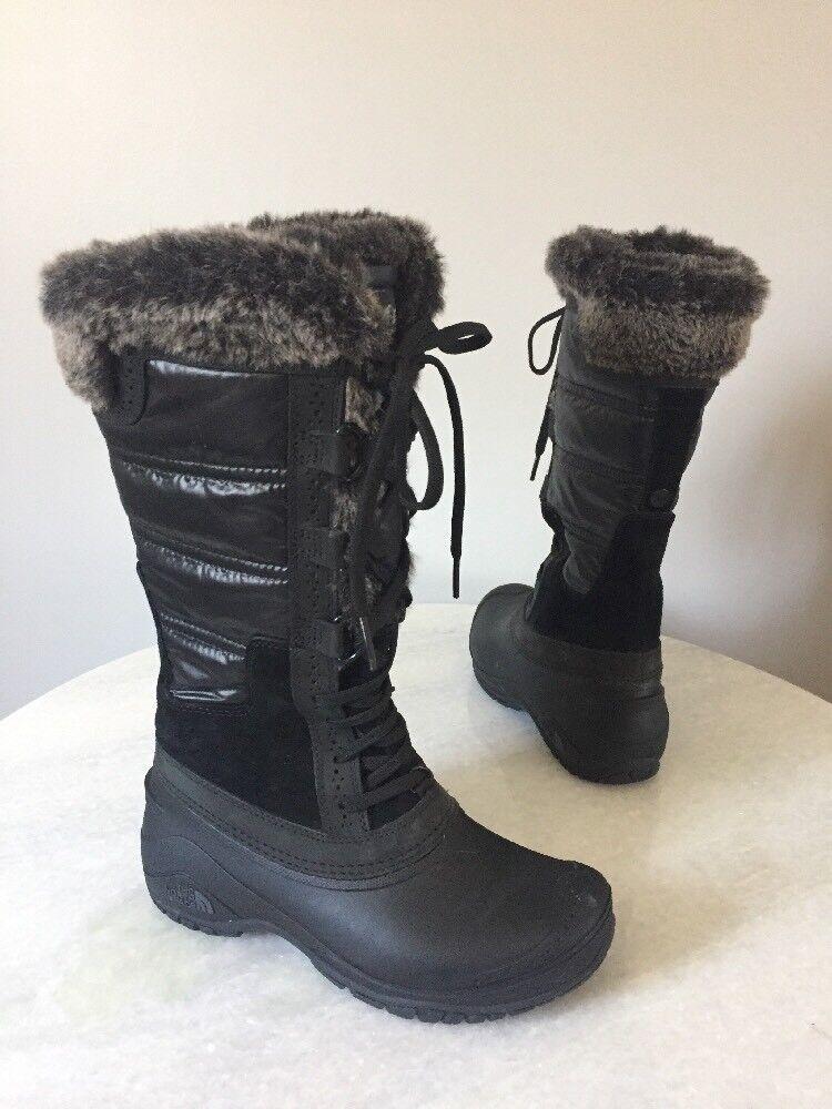 NorthFace Womens CXQ2 Shellista II Tall Boots Black Gray 5