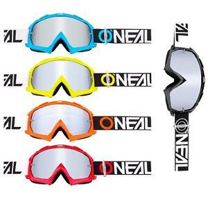 O'Neal B-10 Goggle Twoface MX Brille Verspiegelt Silber Moto Cross Downhill MTB