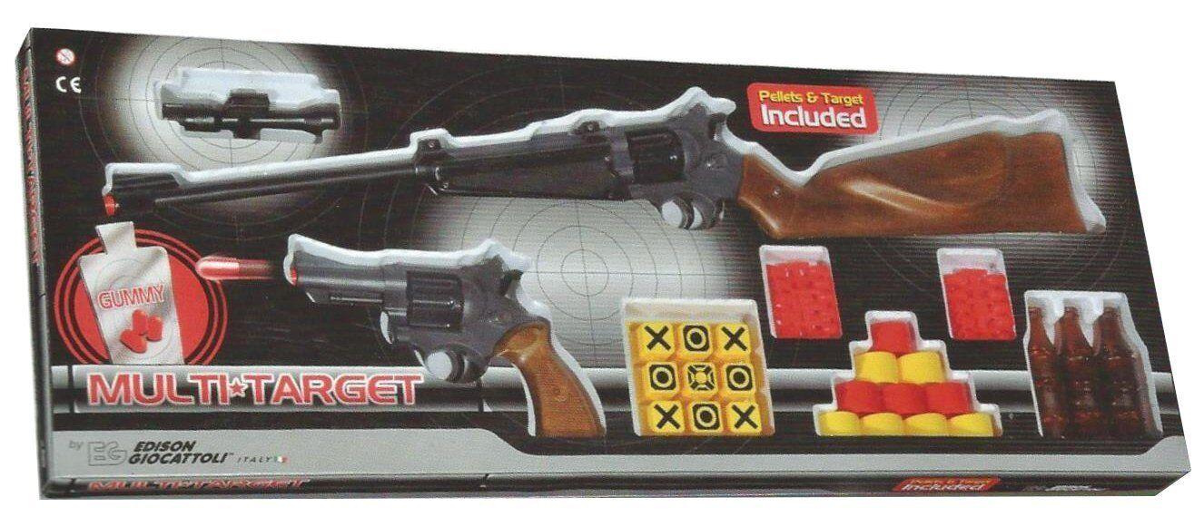 EDISON GIOCATTOLI GIOCATTOLI GIOCATTOLI Multi Target Set Gewehr und Pistole Gummy-Munition d8c72e