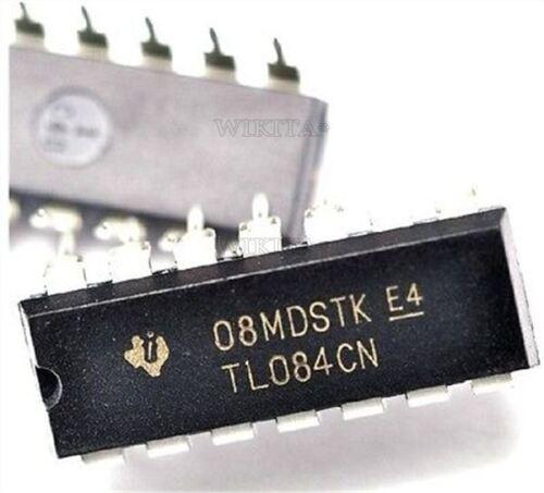 10Pcs Quad Jfet-Input TL084CN TL084 DIP-14 Op Amp Ic New qe