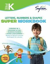 Pre-K Letters, Numbers & Shapes Super Workbook (Sylvan Super Workbooks) (Math S