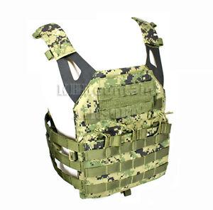 Tactical-Military-Molle-Plate-Carrier-JPC-Vest-Digital-Woodland-KHM-Airsoft