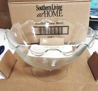 Beautiful Southern Living At Home Ruffled Glass Bowl -