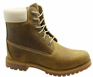 ecae20385d6 Timberland 6 Inch Premium Womens Boots Lace Up Leather Light Brown ...
