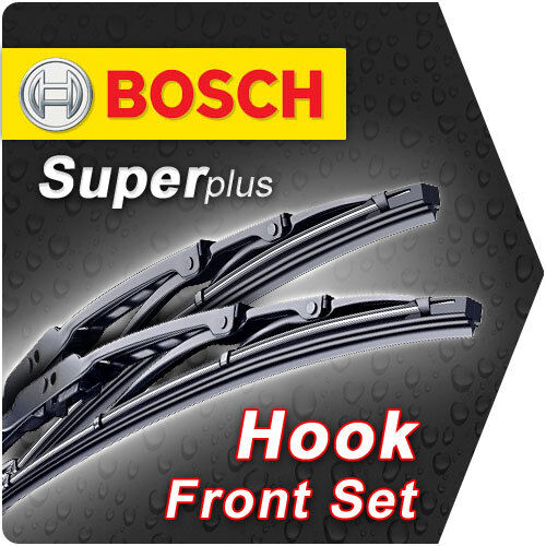 "24"" 18"" Front Bosch Super Plus Wiper Blades Retro Framed Style Windscreen Id74"
