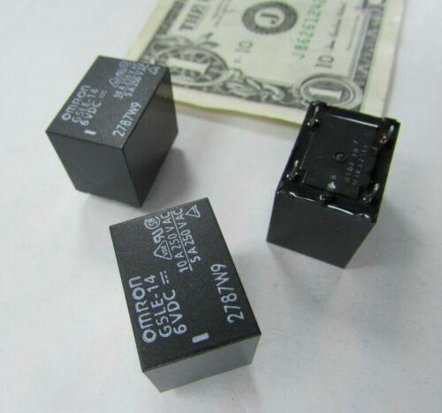 Lot 10 Sealed Omron Cube Relays SPDT G5LE-14 6VDC Coil 10A 250VAC PCB Solder Mt