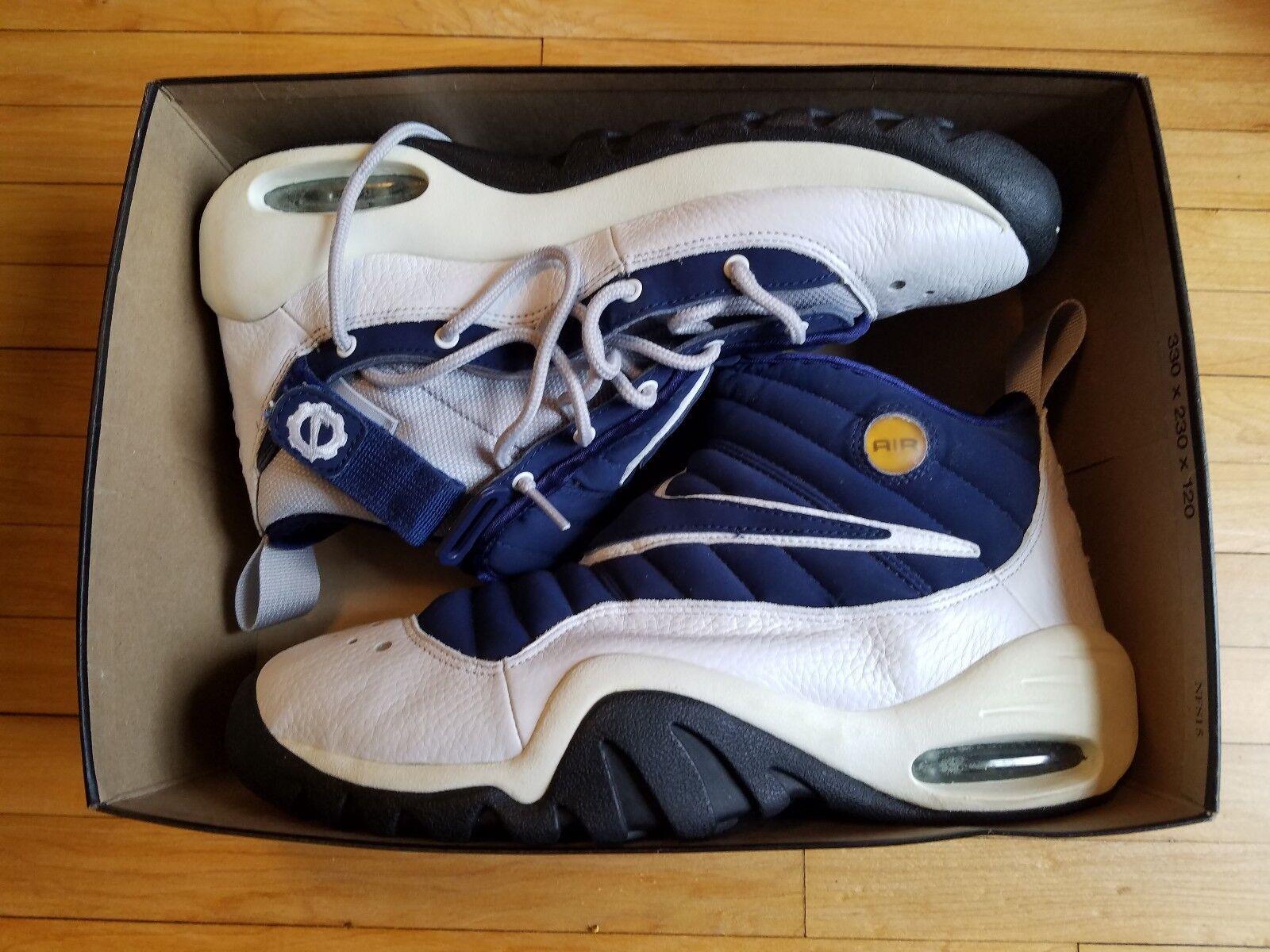 RARE! Vintage Nike AIR NDESTRUKT Rodman 630212 Blue Mens size 12 year 1990s