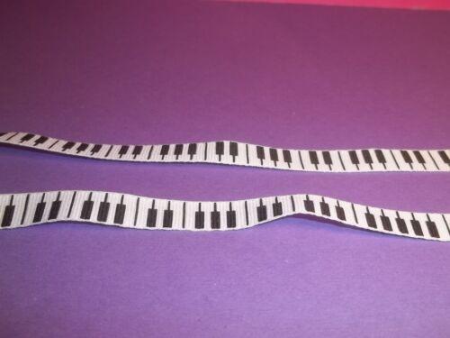 50cm x 1 cm   CL1 accordeon miniature galon tissu notes de piano