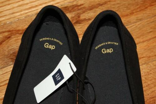 NEW NWT GAP Shoes Womens Black Faux Suede Tassel Loafers *E6