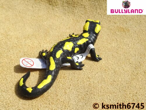 NEW * Bullyland FIRE SALAMANDER solid plastic toy wild zoo lizard animal