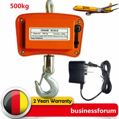 1100LBS//500KG Kranwaage Hängewaage Lastenwaage Industriewaage Waage LCD Display