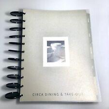 Levenger Circa Large Disc Recipe Cookbook Dining Organizer Folio Transparent
