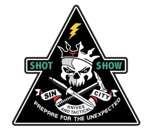 "LAS VEGAS /""SIN CITY KNIVES/"" 2019 SHOT SHOW MORALE PATCH ~ AWESOME !!!"