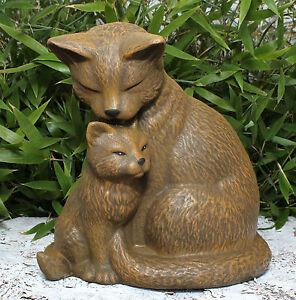 sculpture en pierre couple de Chat Décoration jardin ANIMAL IDÉES ...