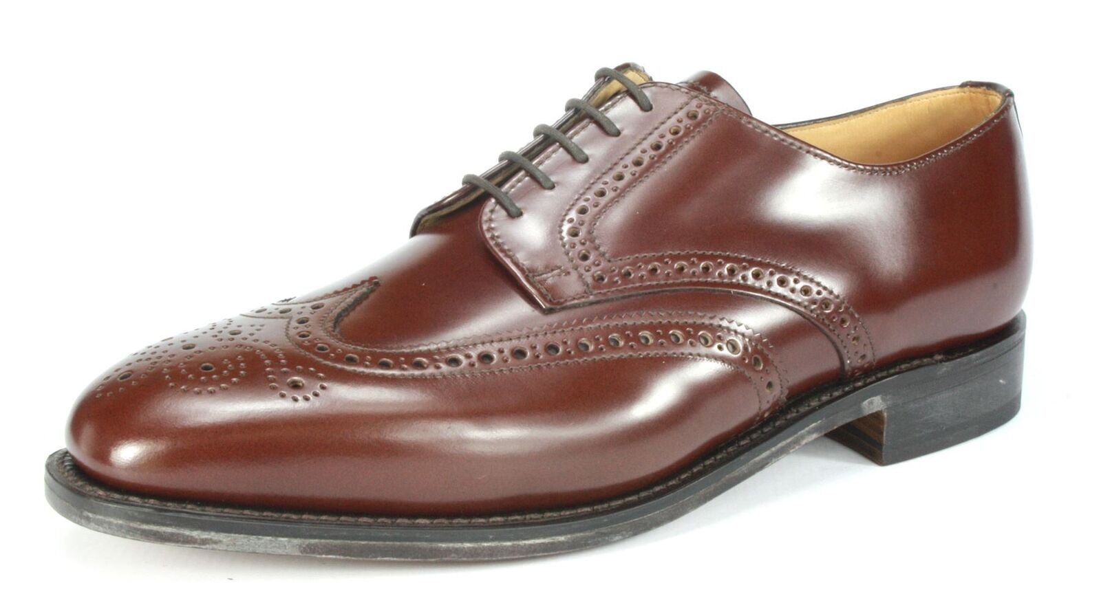 Charles Horrel Britsh Handmade Welted Mens Wingtip Leder Brogue Schuhes Braun
