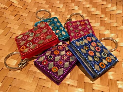 Mini Key ring Handmade Paper Note Book 100/% Cotton Sketch Book Diary Notepad