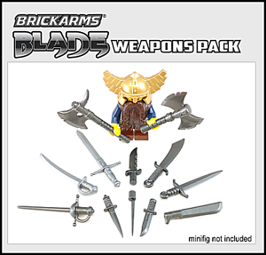 BRICKARMS Blade Weapons Pack compatible with Lego®