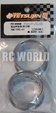 RC Car 1/10 DRIFT WHEELS RIMS Adjustable Offset  3mm-6mm-9mm -CHROME LIP 4 RINGS