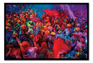 Festival-Of-Colours-Framed-Cork-Pin-Notice-Board-With-Pins