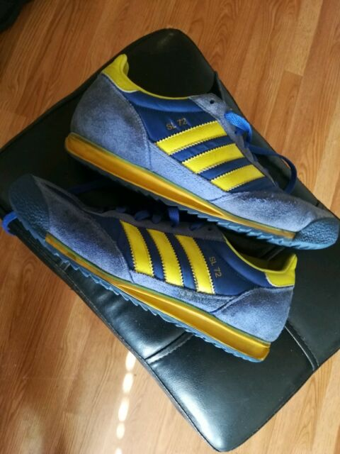 acheter populaire 78329 8b419 RARE 2008 Adidas SL 72 Stockholm Olympic Trainers, Size US 8, UK 7.5 blue  yellow