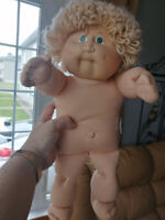 Vintage 1978/1982 Cabbage Patch Doll, Blonde Curly Hair Green Ey Shawinigan Mauricie Preview