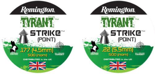 REMINGTON TYRANT STRIKE Pellets H/&N Airgun carabine à air comprimé .177 .22 Qté 50-500